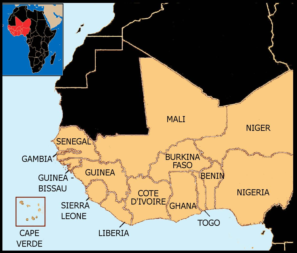 Map Western Africa.Senegal Map West Africa Map Of Senegal Map West Africa