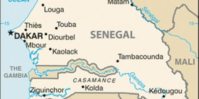Map of Senegal and surrounding countries