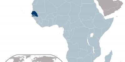 Map of Senegal location on world