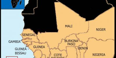 Map of Senegal map west africa